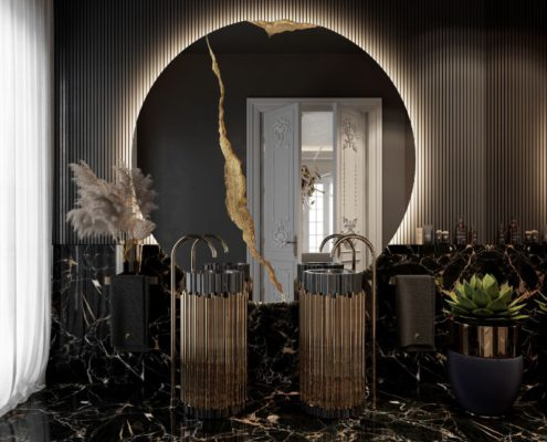 A Multi-Millionaire Luxury Bathroom With A Parisian Aesthetic