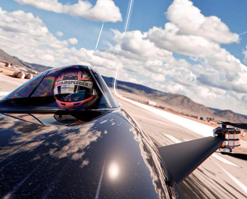 AIRSPEEDER: World's first electric flying racing car is unveiled and ready to race